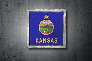 Old Kansas State flag