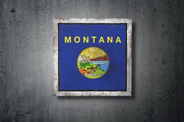 Old Montana State flag