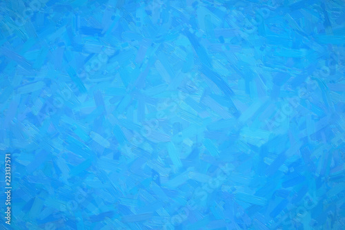 Abstract Ilration Of Dodger Blue Oil Paint With Large Brush Strokes Background Digitally Generated