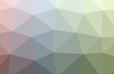 Illustration of green polygonal elegant multicolor background.