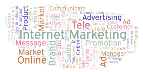 Word cloud with text Internet Marketing.