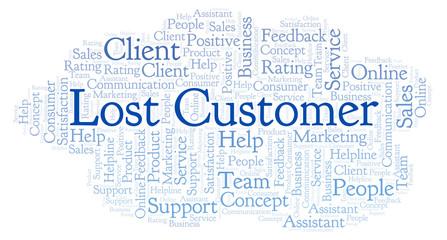 Lost Customer word cloud.