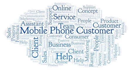 Mobile Phone Customer word cloud.