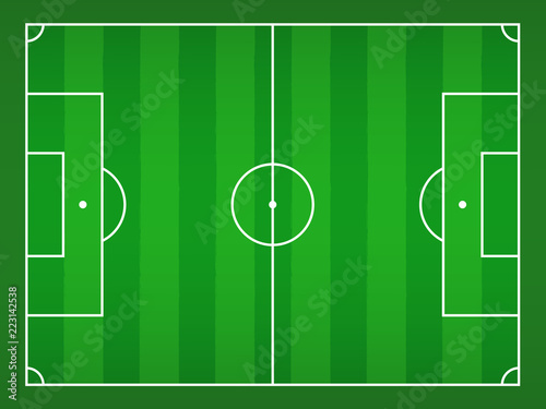 Vektor Fussballplatz Stock Image And Royalty Free Vector