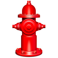 Vector Red Hydrant