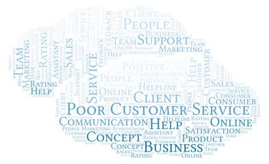 Poor Customer Service word cloud.