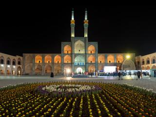 Amir Chakhmaq square by night, Yazd, Iran