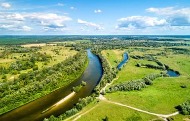 View of the Seym River at Baturyn in Ukraine