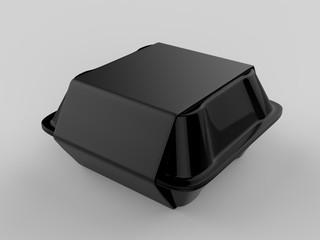Blank disposable food packaging. 3d render illustration.