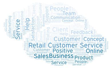 Retail Customer Service word cloud.