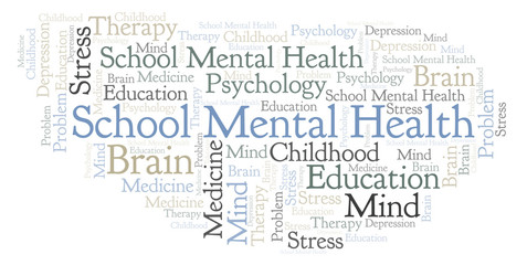 School Mental Health word cloud.