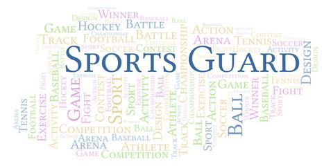 Sports Guard word cloud.