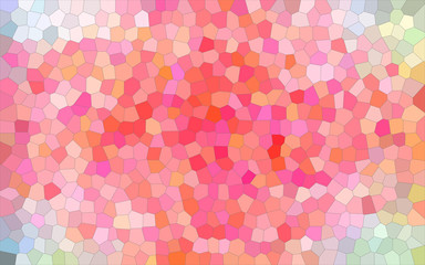 Abstract illustration of white and red bright Small Hexagon background, digitally generated.