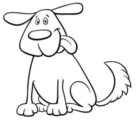 funny dog pet cartoon character color book
