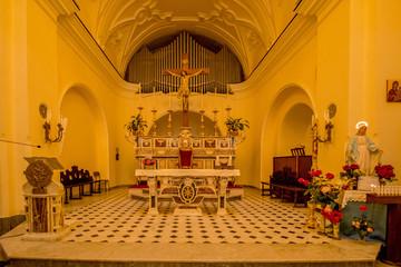Die Santa Sofia Kirche befindet sich auf der Piazza von Anacapri, auf der Insel Capri, Italien.