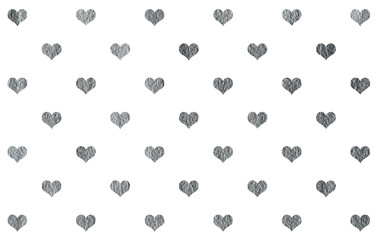 Silver painted hearts pattern.