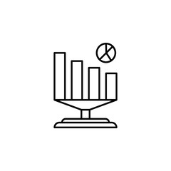 Business analytics icon. Element of artificial intelligence icon for mobile concept and web apps. Thin line Business analytics icon can be used for web and mobile