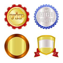 Vector design of emblem and badge symbol. Set of emblem and sticker stock vector illustration.
