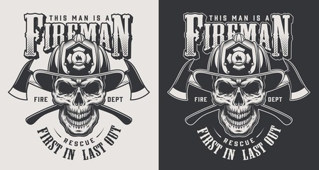 Vintage firefighting logotype concept