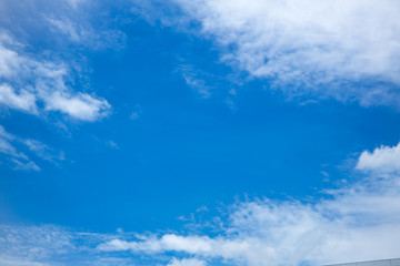 Blue sky with clouds background.Sky daylight. Natural sky composition. Element of design.
