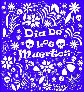 Mexicon Day of the dead background vector illustration