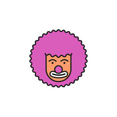 clown colored icon. Element of birthday party icon for mobile concept and web apps. Colored clown icon can be used for web and mobile