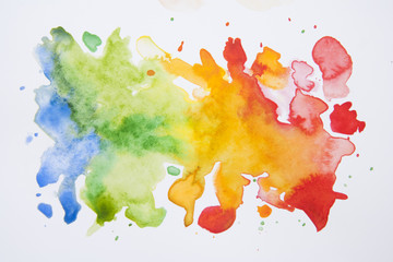 Abstract hand drawn watercolor background, illustration. Colorful texture with copy space.