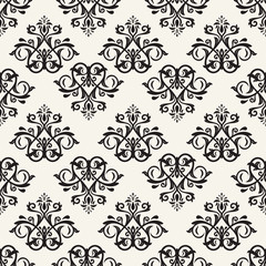 Orient vector classic pattern. Seamless abstract background with vintage elements. Orient black and white background. Ornament for wallpaper and packaging