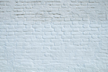 Texture of a fragment of a white brick wall