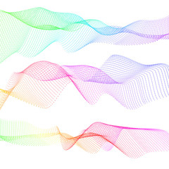 Abstract wave motion smooth color vector. Vector wavy design line element graphic