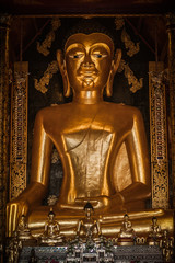 Buddha statue at Buddhist temple in Chiang Mai, Northern Thailand Province