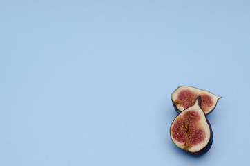 Figs on a blue background.