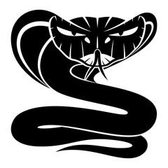 Cobra snake sign on a white background.