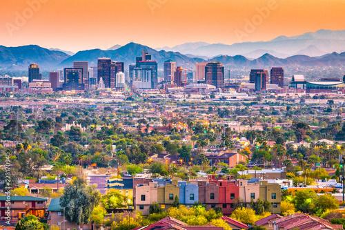 Fototapete Phoenix, Arizona, USA Cityscape