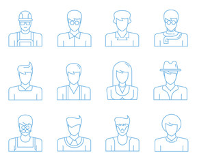 people icons, user icons