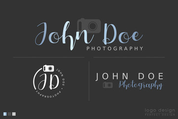 Photography Logo design set With camera