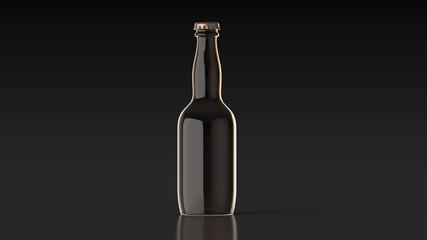 ビール瓶 無地 黒背景