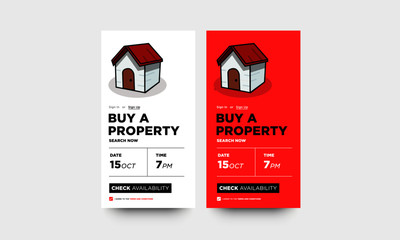 Buy A Property App UX Design for Smart Phone Screens