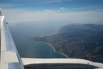 Malibu Aerial - view from airplane