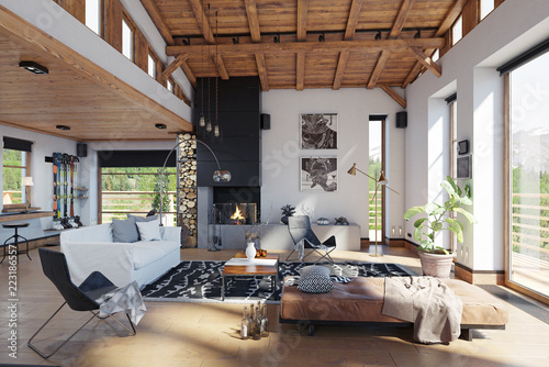 Interior chalet design full hd maps locations another world