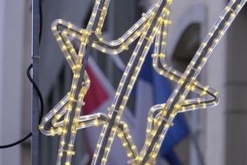 Christmas star with LED lighting
