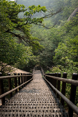 Strais leading down to the jungle in Bukhansan Seoul