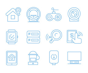 internet of things concept icons set, iot icons