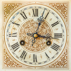 Ancient ornamental clock