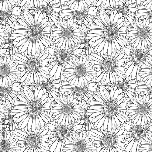 Flowers Black And White Outline