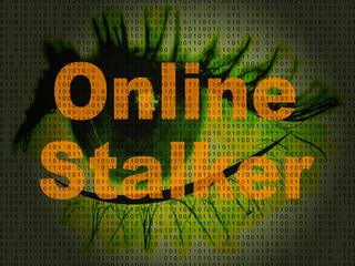 Online Stalker Evil Faceless Bully 2d Illustration