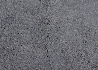 Crack in the asphalt of a street, the picture is thereby divided into a left and a right half. The photo is suitable as a symbol for a division or separation