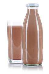 Kakaoglas Kakaoflasche Kakao Glas Flasche Schoko Schokoladen freigestellt Freisteller isoliert