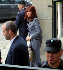 Former Argentine President Fernandez de Kirchner leaves the Federal Justice building in Buenos Aires