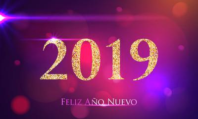 Feliz año nuevo deseos tarjetas 2019